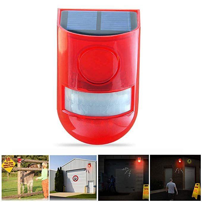 Alarm Lamp IP65 Waterproof Motion Sensor Security Alarm System 6LED Light Loud Siren Day Mode + Night Mode For Warehouse Apartment