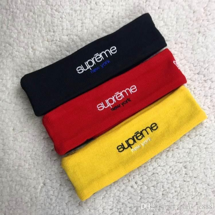 Supreme Streetwear Hypebeast Red Fleece Headband Blue New head band sport Hot