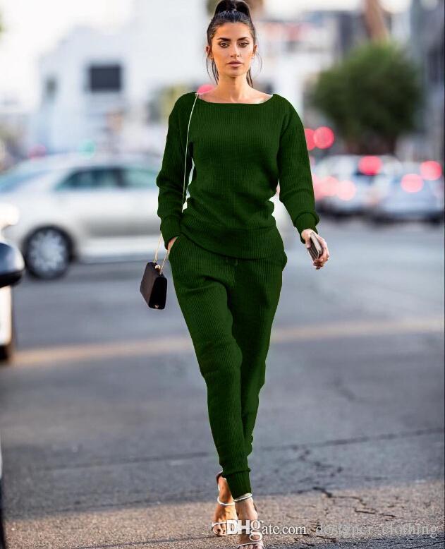 Yeni moda gündelik yuvarlak boyun rahat spor takım elbise kadın koşu spor spor takım elbise Spor Giyim Koşu Wear
