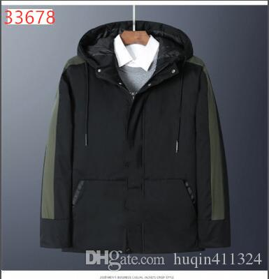 2019 PMUA Mens Winter Jacket Casual Fashion Letter Embroidery Fur Hooded Down Jacket Brand Patch Designs Outwear Warm Clothes Thicken doudou