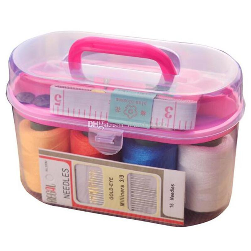 10 Sewing Kit Storage Box For Needlework Storage And Home Decorations Needles Sewing Thread Pins Thimble For DIY Apparel Mini tool sewing