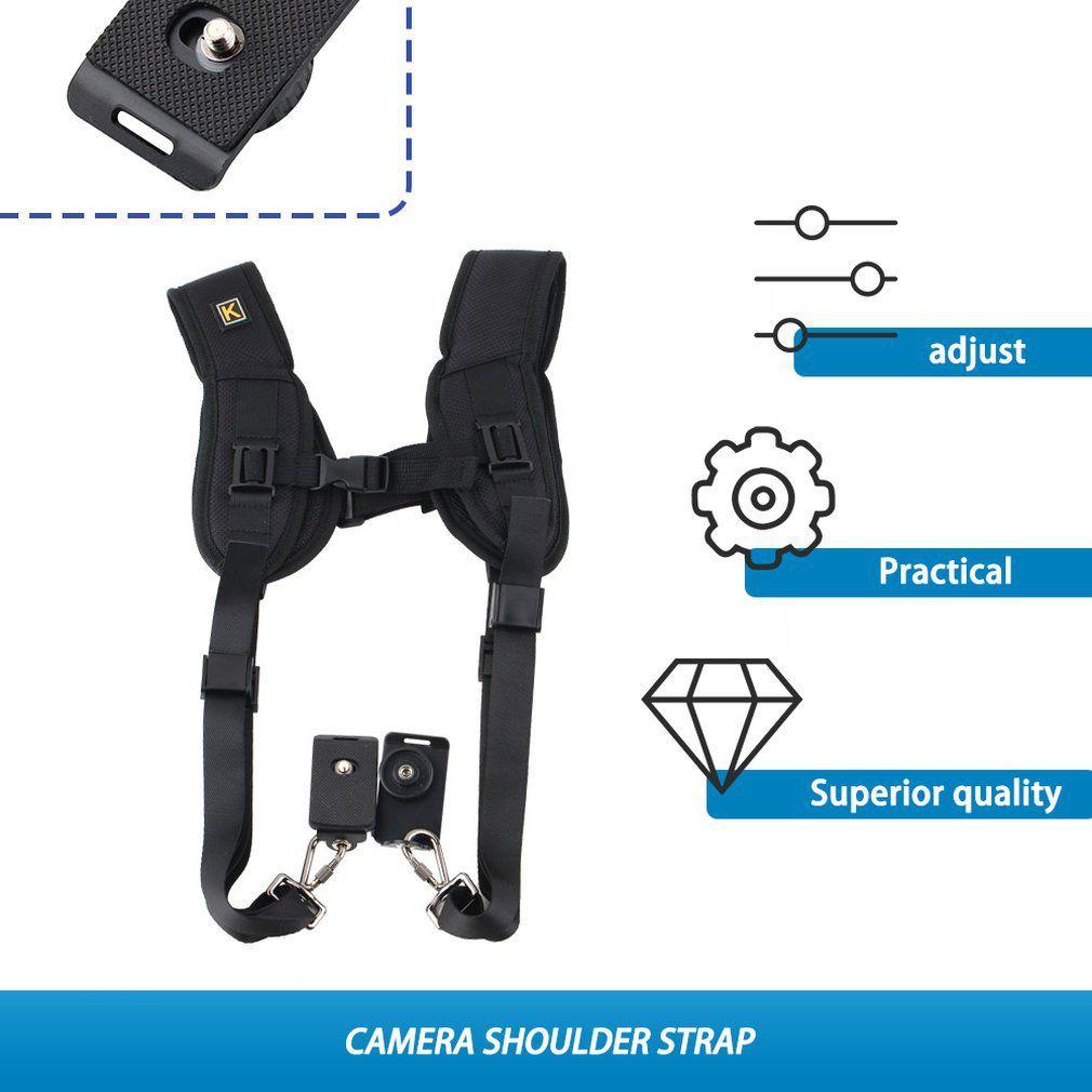 Double Dual Shoulder Camera Neck Strap Quick Release for Digital SLR DSLR Camera Camera belt