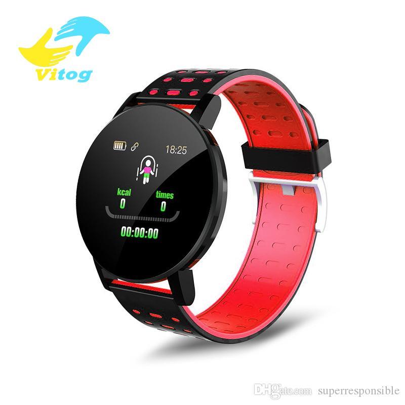 Vitog 119 PLUS Smart Band Blood Pressure Heart Rate Monitor Fitness Tracker Smart watch Bracelet Waterproof Remote Camera Wristband