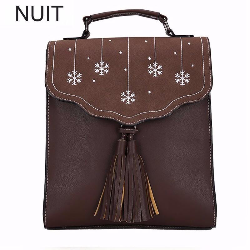 England Tassels Zipper Shoulder Travel Women Backpack High Quaity Pu Leather Backpack Fashion Ubs Plecak Backpacks School Bags