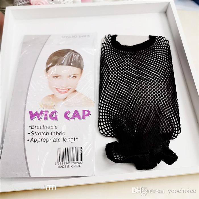 Лучшие продажи Сетки хорошее качество сетки ткачество черный парик волос Чистая Создание шапки Ткачество парик Cap Сетки