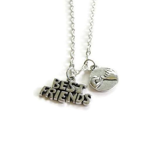 Best Friends Necklace Little Finger Promise Vintage Silver Friendship Necklaces Pendant BFF Partner Couple Jewelry Bohemia 2019 Sale Gifts