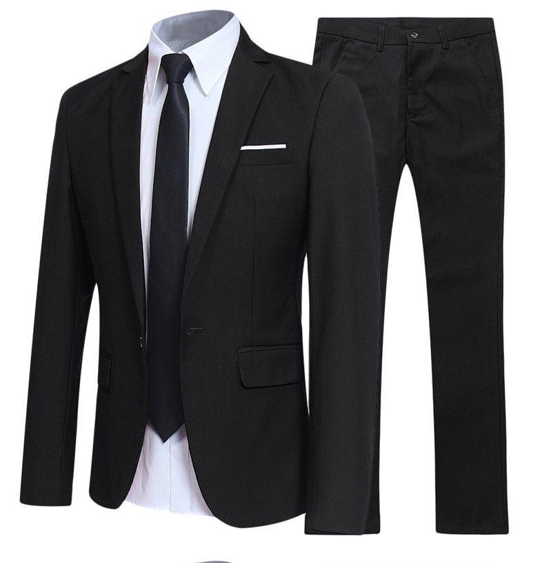 Hommes Classique 2 Pièces Blazer Pantalons Costume Set Blazers affaires formelles Ensembles Taille Slim Plus 6XL Sets pour Set fête de mariage