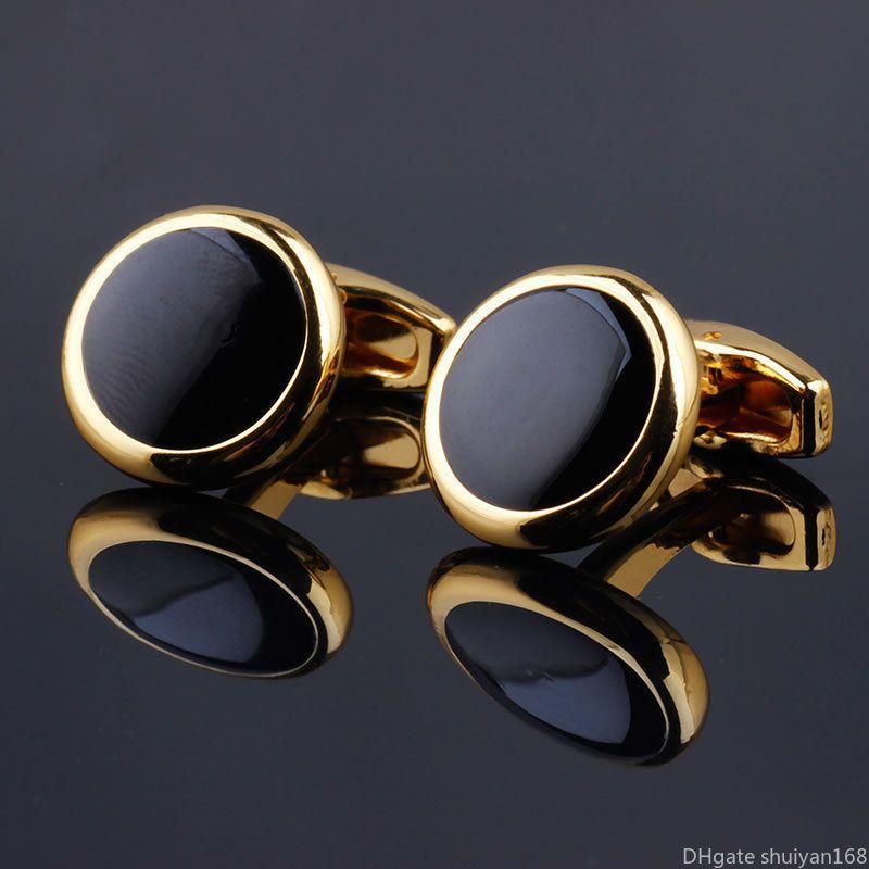 Para Hombre Botones DE Oro Azul Cristal Gemelos De Negocios Camisa de Traje de Boda Regalo para