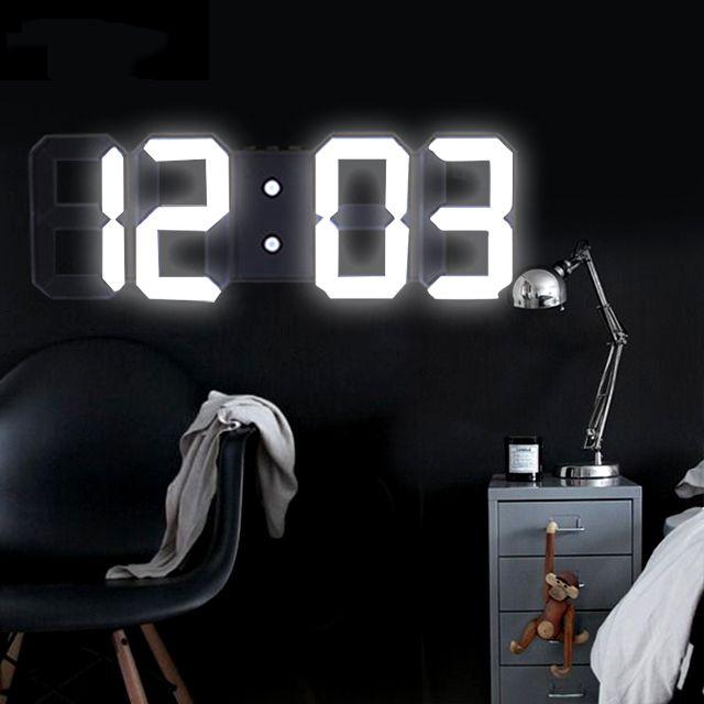 Anpro 3D Large LED Digital Wall Clock Date Time Celsius Nightlight Display Table Desktop Clocks Alarm Clock From Living Room T200601