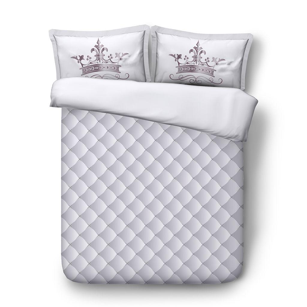 Copripiumino Geometric Diamond Copriletto Trapuntato Plaid 3 pezzi Set biancheria da letto 2 Cuscini Shams NO Consolatore