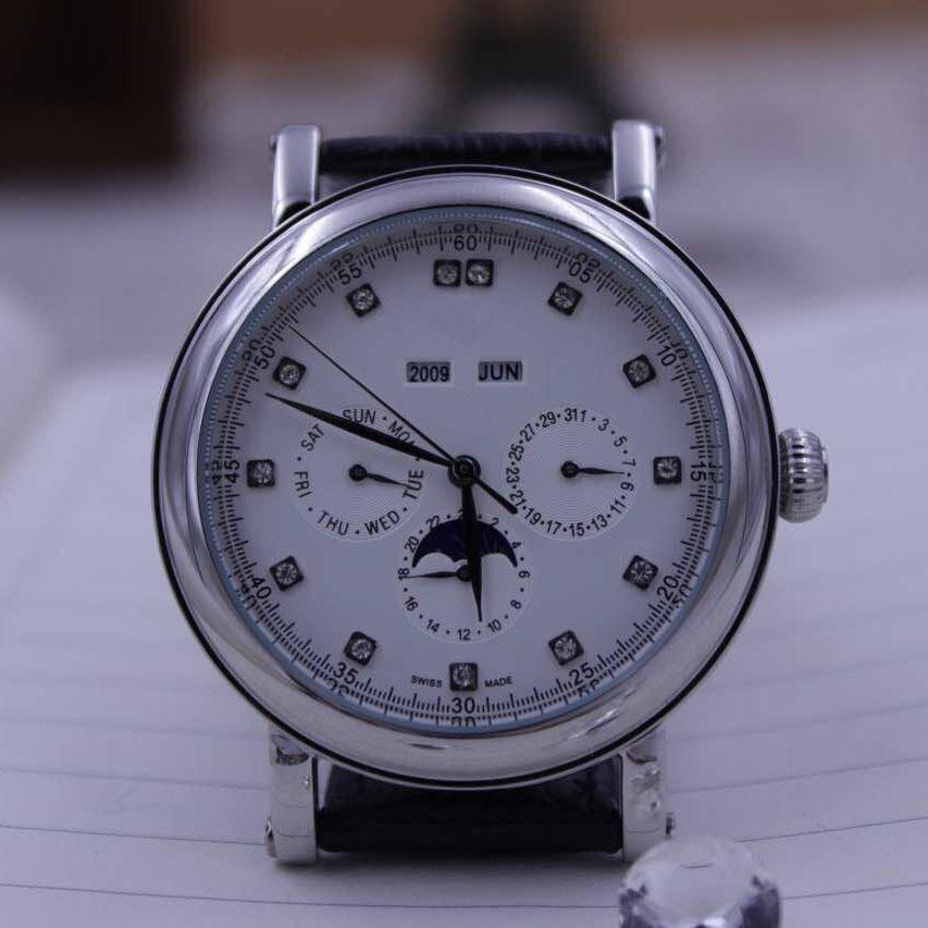 Heißer Verkauf-automatisch Komplizierte Uhr DJ6212 braunes Zifferblatt Tauchuhr mans Lederband Armbanduhr PP209