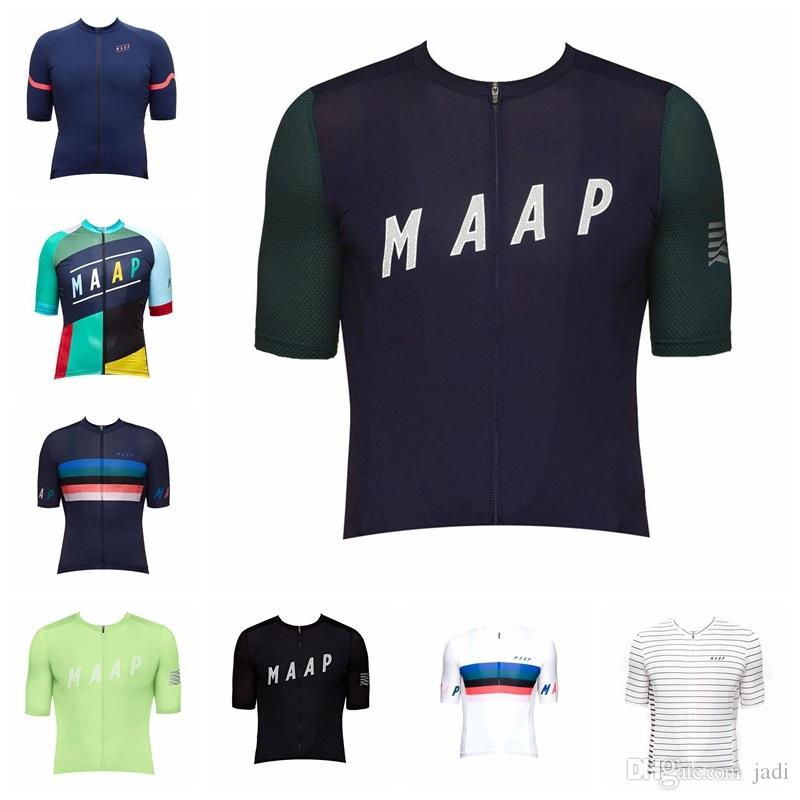2019 MAAP team Cycling Short Sleeves jersey mens clothing High quality road mtb Bicycle shirt Maillot Ciclismo hombre K073003