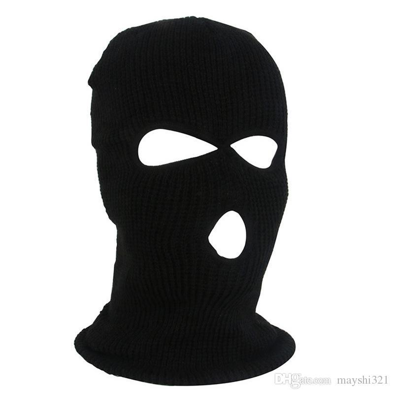 Bicicleta Ciclismo Caps 3 Furos Máscara Facial máscara de esqui Quente Balaclava Tactical Inverno Motocycle Capacete de Equipamentos de Proteção