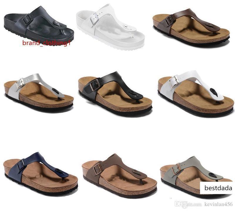 neuen Stil Top-Schuhdesigner Schuh Madrid Männer s-Frauen-flache Sandalen Casual Classics Buckle Sommer-Strand-Hausschuhe echtes Leder Hausschuhe