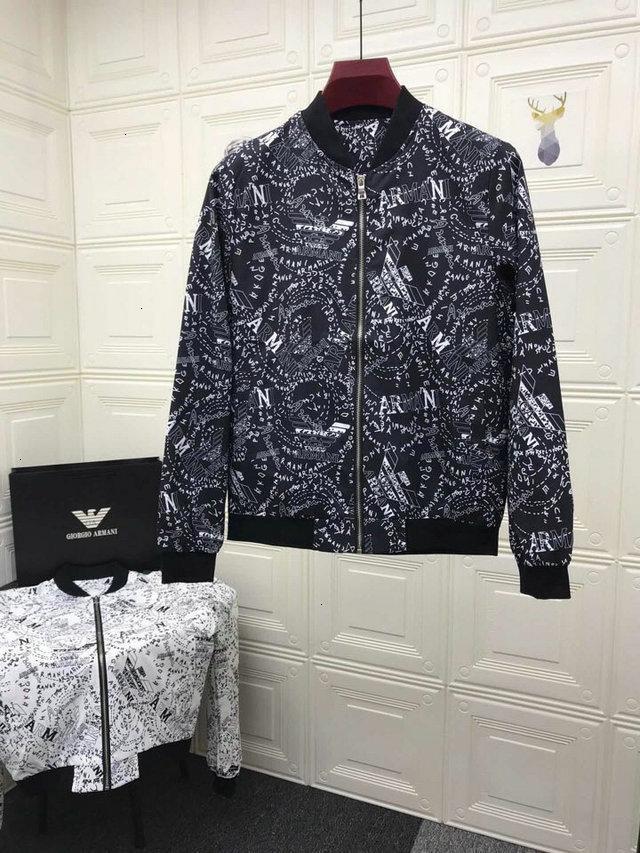2019 Frühling und Herbst Neues Muster koreanische Ausgabe Trend Freizeit gut aussehende Student Kleidung lose Mantel Mensjacken 090212