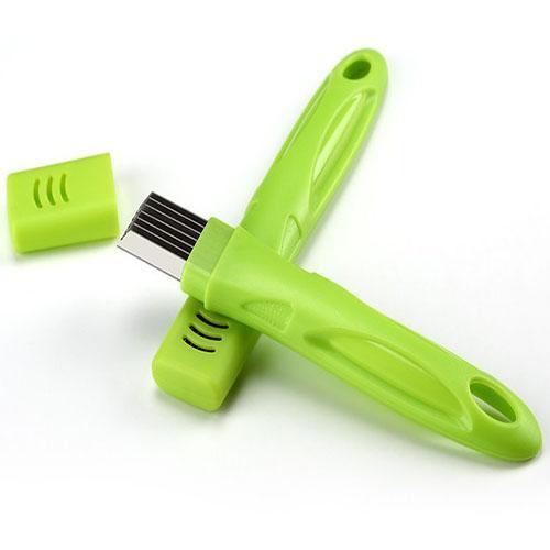 أدوات الفولاذ المقاوم للصدأ الأخضر البصل القطاعة التقطيع القاطع الخضروات القرص الصقر قطع قطع لمطبخ أداة الأدوات