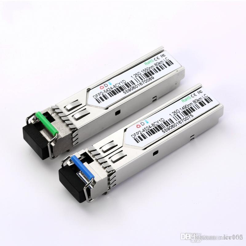 Одиночный режим одиночное волокно SFP 1.25G BIDI 1550 / 1490nm 80KM