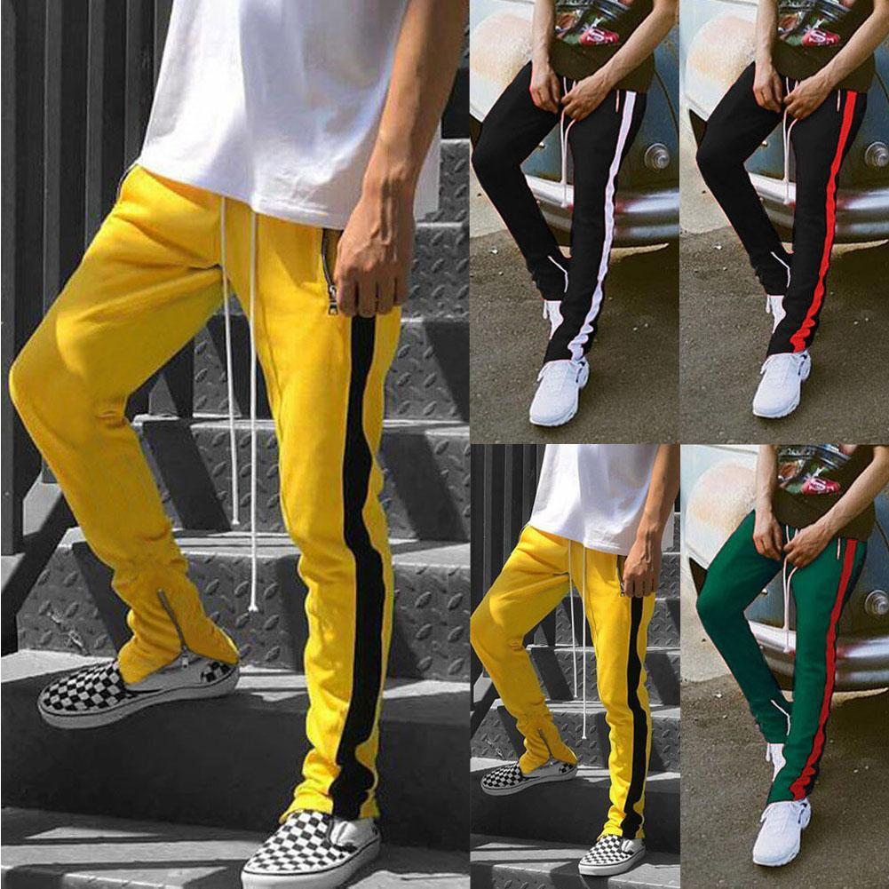 2019 جديد أزياء الشارع الشهير بنطال رياضة للرجال السببية ملابس رياضية سروال أسود أبيض عصري للرجال الهيب هوب بنطلون بنطال رياضة