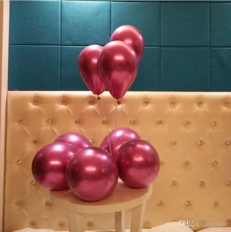 50 шт 12 дюймов Metallic латексные шары детские игрушки из латекса гелием воздушные шары Мода Свадебные украшения высокого качества надувные воздушные шары падения Ши
