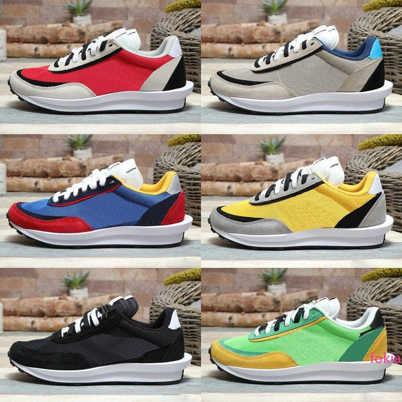 Nuovo Sacai Waffle Trainer Daybreak Mens Sneakers per le donne fashion designer Breathe Trippa S Sport Formato dei pattini correnti Eur 36-45