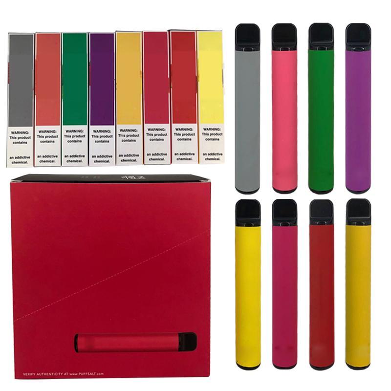 25 colores hinchan más vaporizador desechable Starter Kit de batería 550mAh 3,2 ml de hojaldre cartucho desechable Vape bares nave en 1 día prefiilled Pod