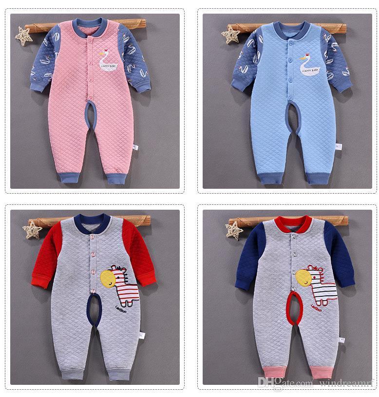 удобная детская одежда новорожденный хлопок с длинными рукавами купальник восхождение одежда комбинезон Комбинезон