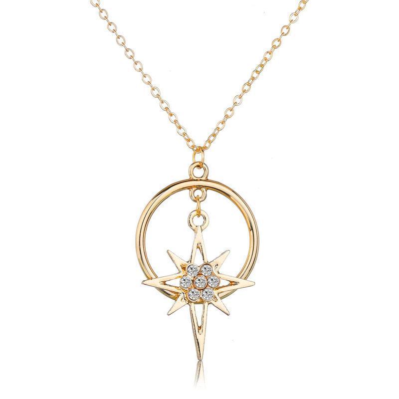 Круглые Подвески Neckalces для женщин Новых мод Элегантных двойного круга ожерелье подарок ювелирных изделия Геометрической Колье Различных стили ожерелье