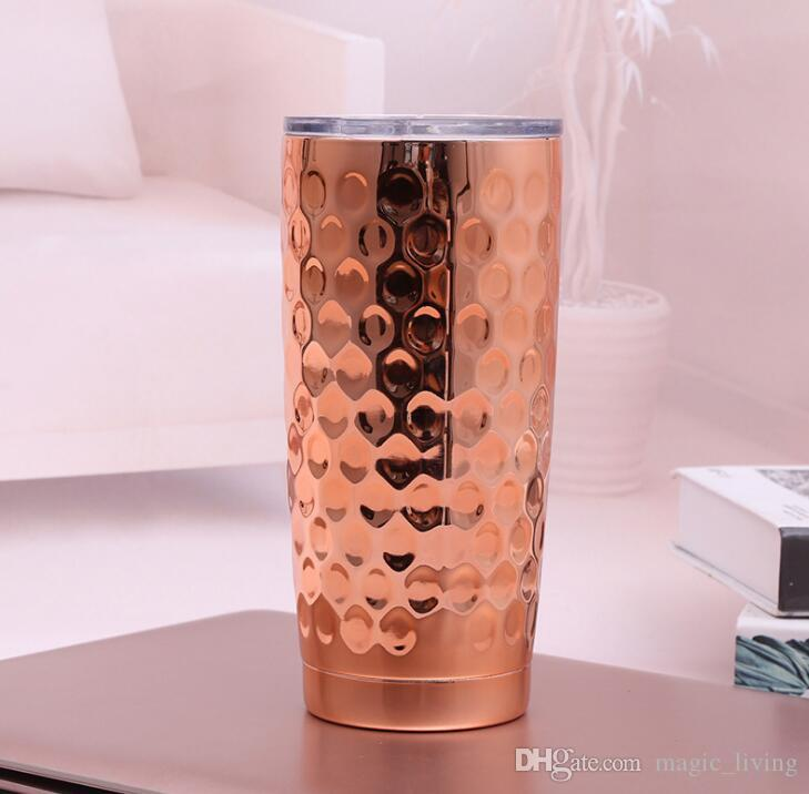 NEW Fish Scales Stainless Steel Cup 20 oz Tumbler Plating Insulated Double Wall Vacuum Insulated Mugs Travel Beer Mugs Hydration Gear H022
