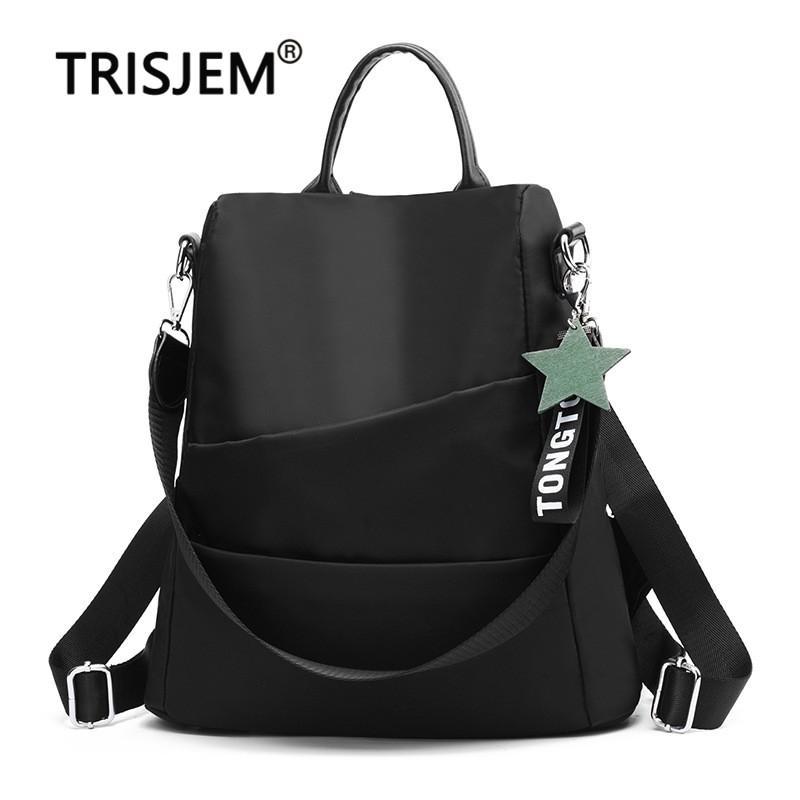 Mochila Teenger Girl Fashion Viagem Backpack Anti-roubo da fêmea de alta qualidade Oxford pano de saco mulheres Bags