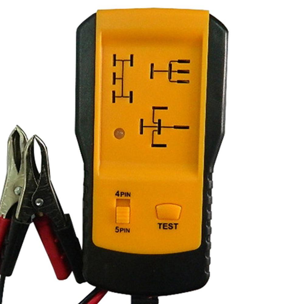 NUOVO Automotive elettronico Relè Tester coccodrillo strumento di diagnostica del tester auto per auto 12V