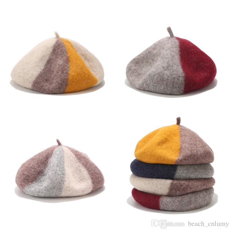 WELLDRESSED Women Wool Color Beret Bonnet Caps Winter Warm Walking Hat Cap,Orange