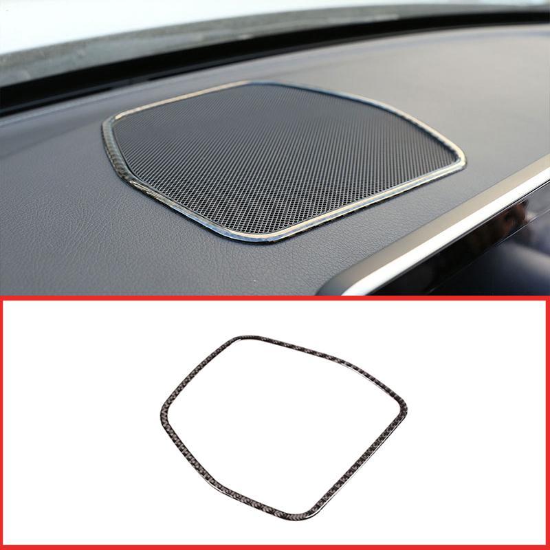 Real fibra di carbonio per Classe C GLC W205 x253 C180 2016-2019 Auto Dashboard Speaker Paragrafo 3D Sticker interno