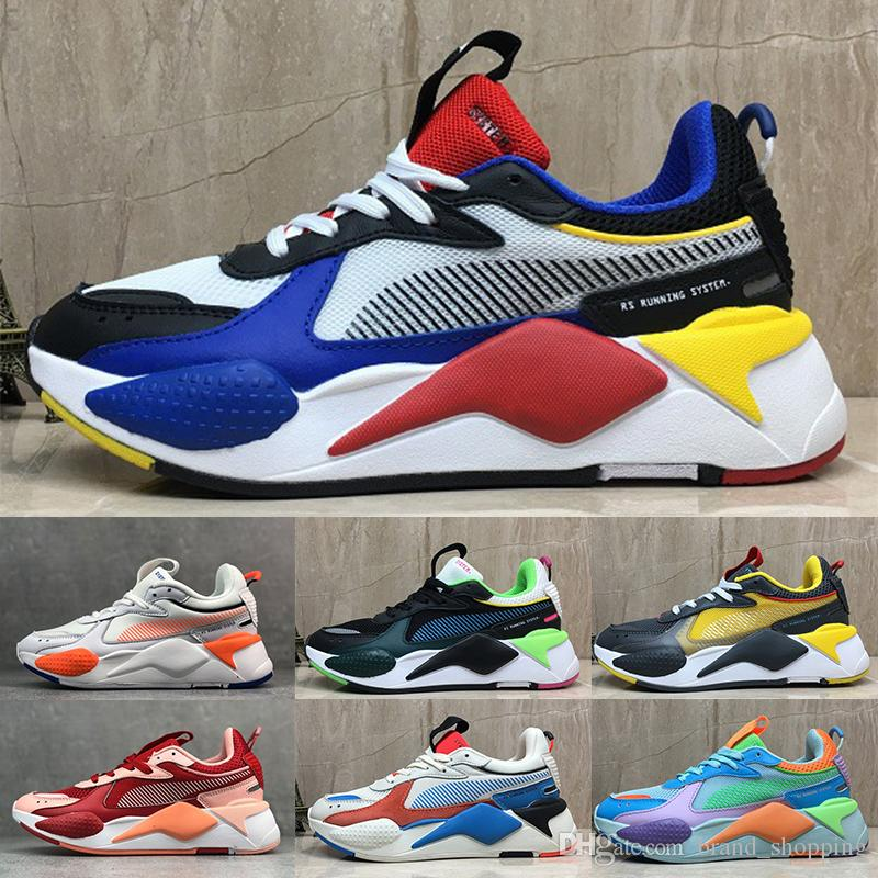 2020 Women Mens Trainers PUMAShoes RS X Reinvention Toys Running Shoes System White Black Blue Red Yellow Athletic Shoes Sports Sneakers From