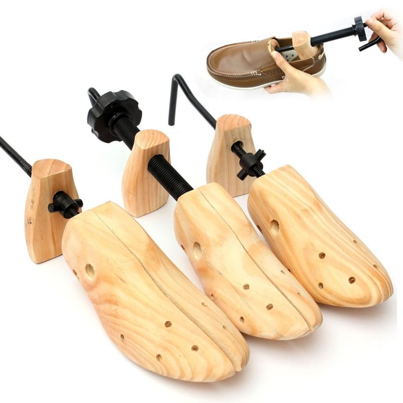 Ahşap Ayakkabı Ağaç Shaper Raf, Ahşap Ayarlanabilir Flats Çizme Genişletici Ağaçları Boyut S / M / L Man Kadınlar Hombre Ayakkabı Sedye pompaları