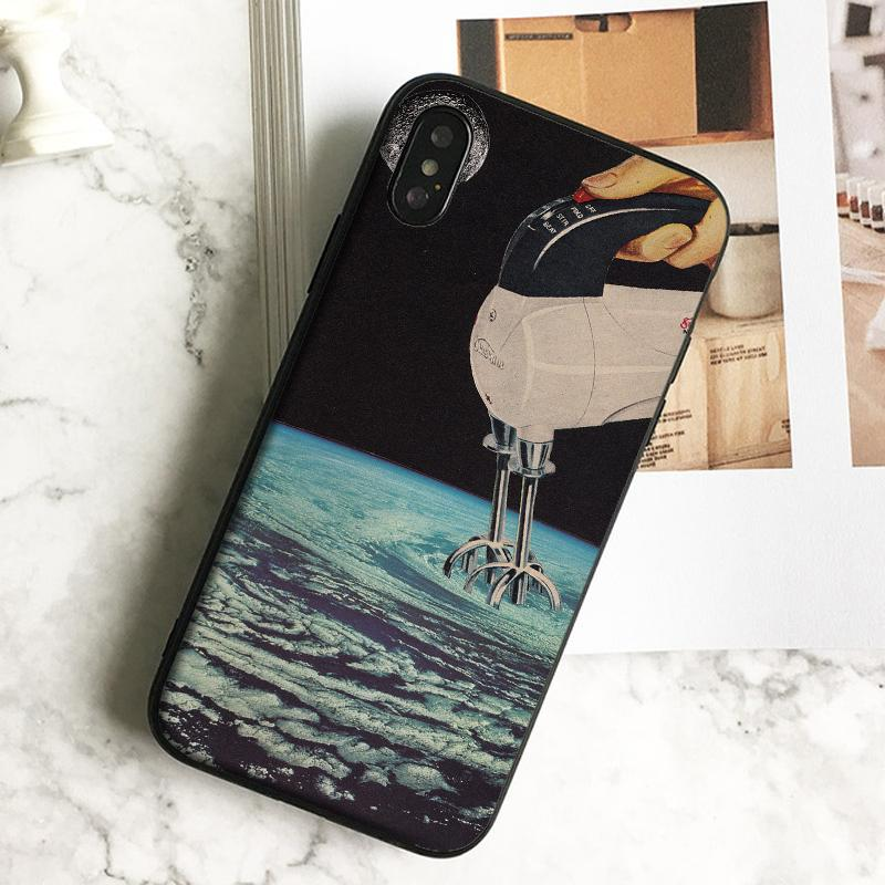 Capa Luxury Whisk Collage Art Phone Case for iPhone 11 Pro Xs Max Xr 8 7 6s Plus 5 SE Case Soft Black TPU Silicone Cover.