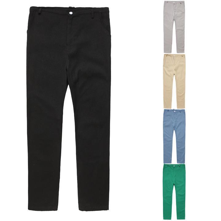 2019 Pantalon en lin en vrac Hommes Pantalons et tailles Plus Pantalons simple coupe droite d'été mince Section coton lin Tissu Tro