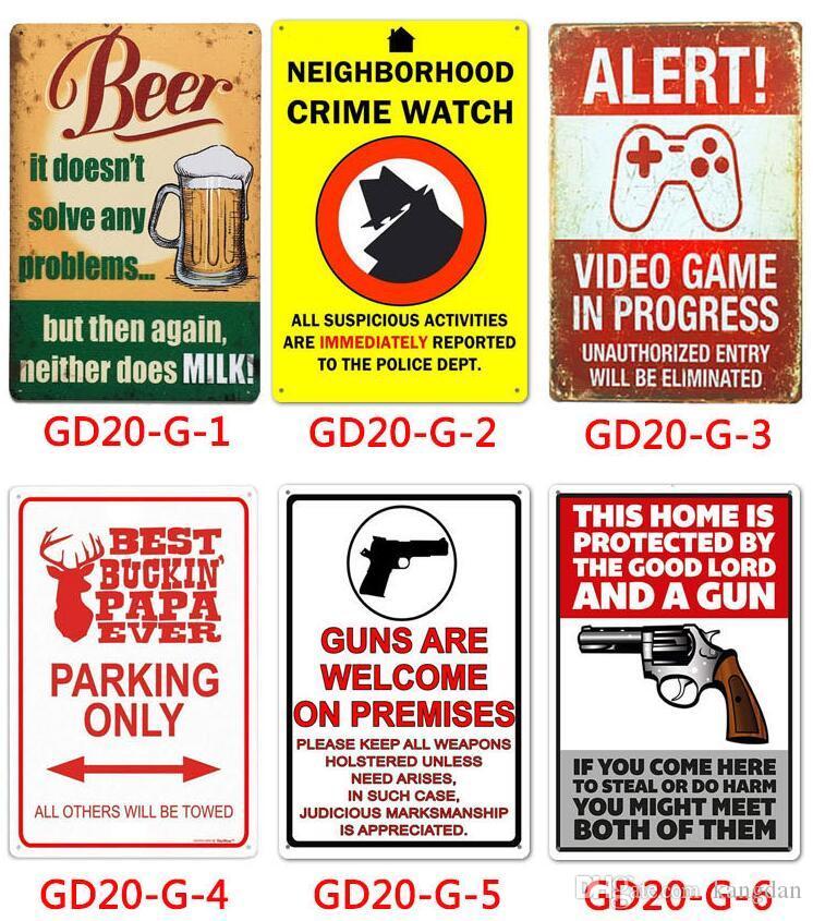 Melhor buckin papa sempre sinais de estanho de metal pai garagem regras bebida cerveja Bar Pub ktv Loja pintura aviso alerta decoração da parede