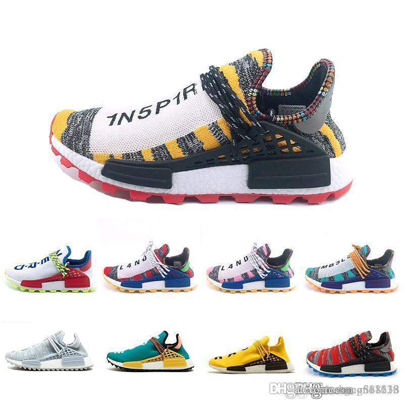 Human Race Creme x NERD Laufschuhe Spiel Afro Hu Sonne leuchten gelb BBC Sonnen PacK Trainer Herren Damen Sport-Turnschuhe Spiel Größe 36-45