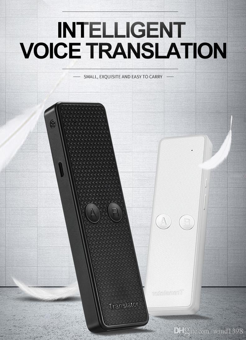 K6 Portable Multi Language Voice Translator, Real Time Instant Two-way 68 lingue Traduzione per viaggi Shopping Learning