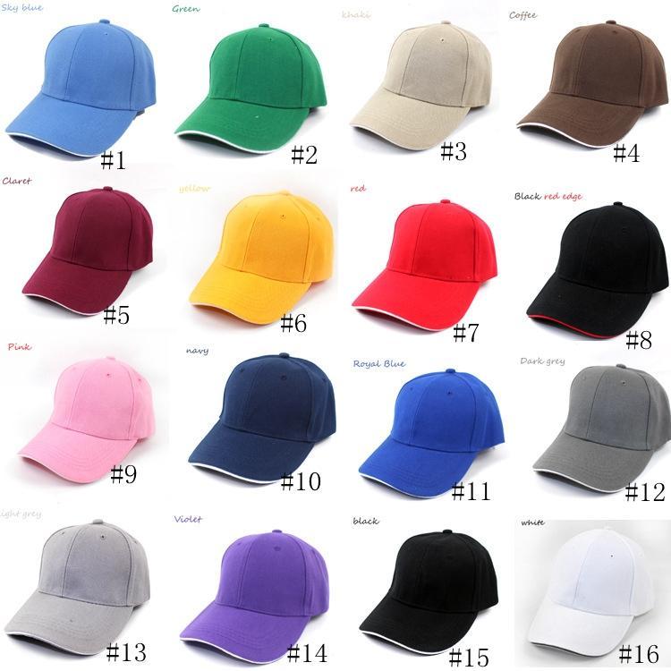 Boné de beisebol Plain Mulheres Homens Snapback Caps Casquette Curvo Viseira Casual Esporte chapéus de sol ao ar livre ajustável Cap Moda GGA3352
