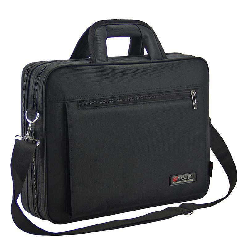 Hommes Tissu Oxford Porte-documents d'affaires Waterproof Noir 15,6 pouces pour ordinateur portable 14 pouces Sacoche pour ordinateur portable de grande capacité hommes Document Bag