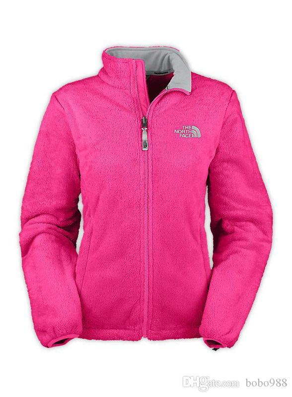 La moda de las mujeres del Norte Denali Fleece chaquetas de abrigo informal a prueba de viento de esquí de la cara de los niños abrigos chaquetas rosa hombres hijos de esquí abajo cubre SoftShell Traje