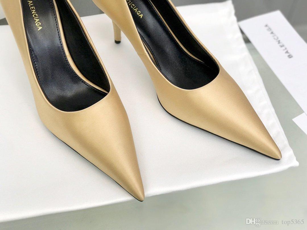 . Le nuove scarpe di design, bella pelle, i piedi comodi, pelle di pecora fodera alti talloni delle donne nobili alla moda, decorazione squisita superiore