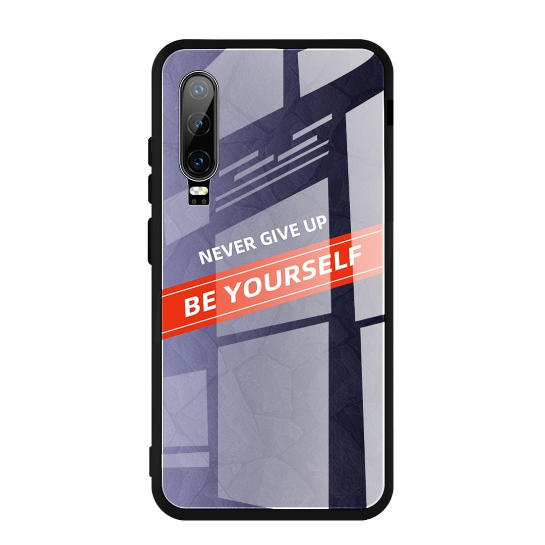 For Huawei P30 Shockproof PC + TPU + Glass Protective Case