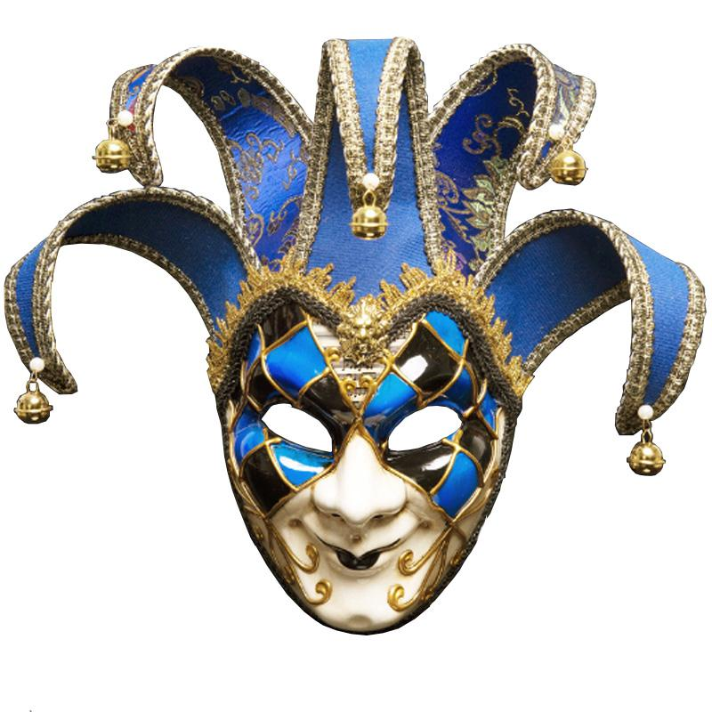 할로윈 크리스마스 무도회 댄스 파티 마스크 전체 얼굴 역할을 코스프레스 플라스틱 마스크에는 이탈리아 베니스 영화 행동 소품이 벨 광대 마스크