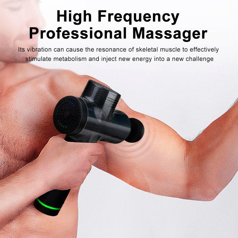 Hot Muscle Massage Gun Elektro Physiotherapie Therapie-Tools Zurück Körpermassagehypervolt erhöhen Muskel-Schmerz-Entlastungs-Fitnesstraining Körper