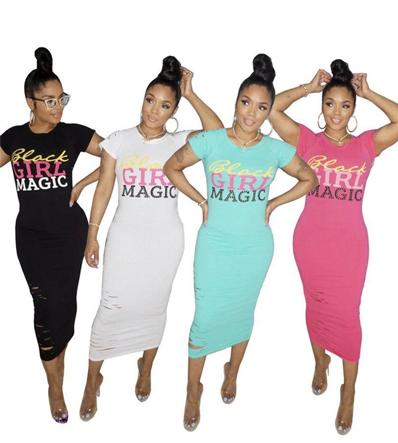 Womens designer short sleeves midi Dress one piece dress skirt tights mid-calf Dresses high quality clubwear hot women clothing 3431