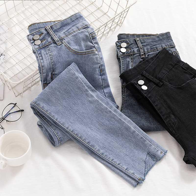 Jeans Frau Skinny Jeans Frau plus Größe Mutter Schwarz 2020 Stretch-Denim-Hosen für Frauen