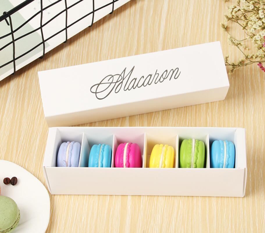 저렴한 가격!!! 200PCS / 많은 집에서 만든 마카롱 블랙 화이트 핑크 그린 마카롱 상자 머핀 상자 무료 배송 비스킷