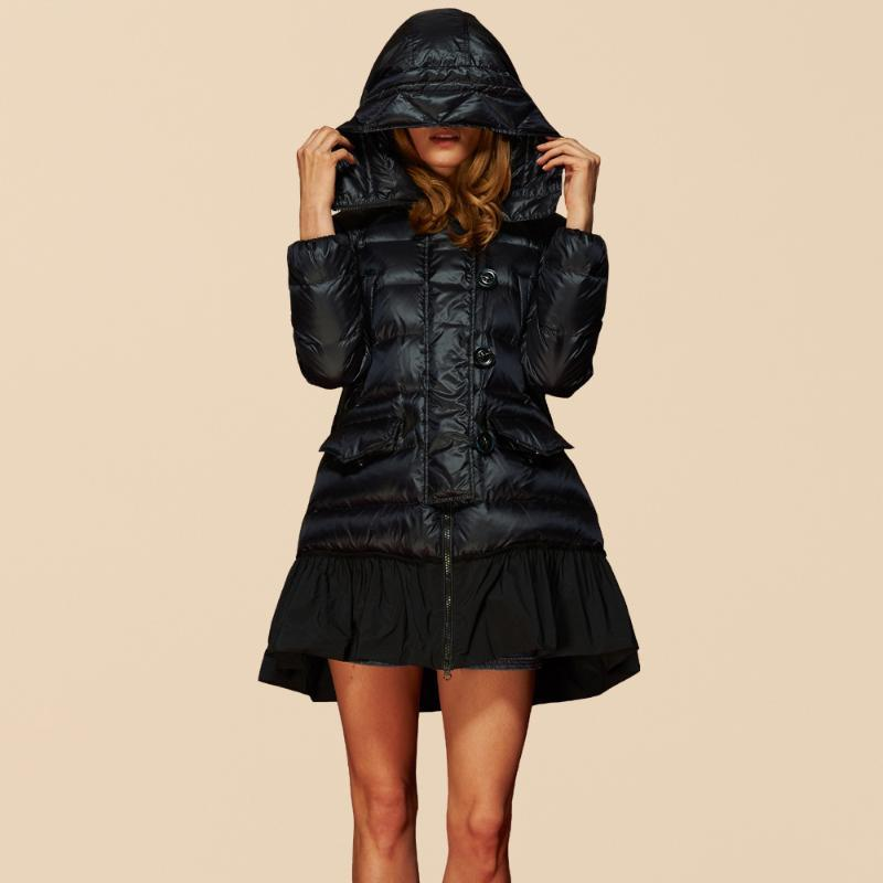 parkas mujer invierno 2020 новый бренд утка вниз длинный сгущает куртка женская линия пальто высокое качество плюс размер LX911